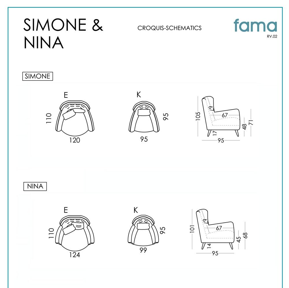 схема кресел Nina и Simone