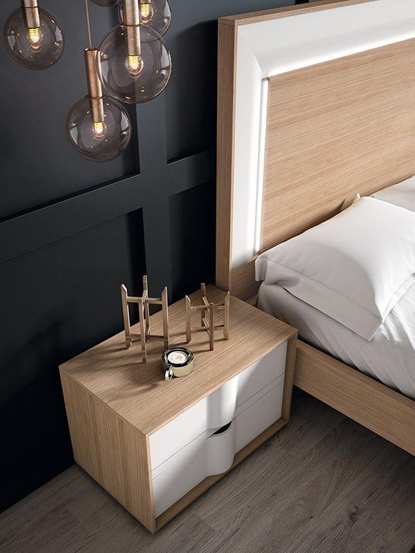 Кровать с тумбами и комодом comp-023.