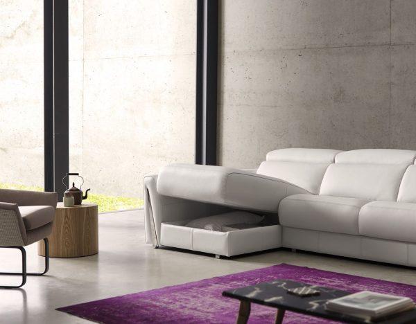 Раздвижной диван с боксом для хранения Fiona Pedro Ortiz. Мягкая мебель для гостиной Алматы