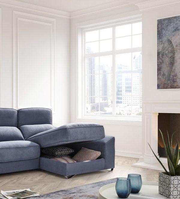 Раздвижной диван для релаксации Rene. Мягкая мебель для гостиной Алматы